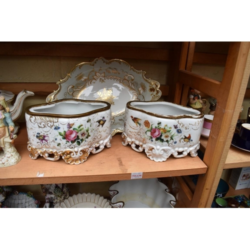 1185 - A mixed group of English and Continental pottery and porcelain, s.d. to some, (two shelves)...