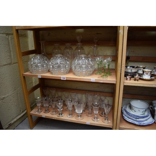 1192 - A collection of 19th century and later glassware.(two shelves)