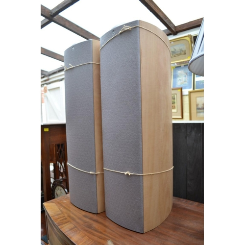 1222 - <strong>A pair of KEF Q3 speakers, </strong>77.5cm high....