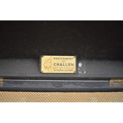 1243 - <strong>A vintage Cossor Model 490K valve radio,</strong>in Challen chinoiserie cabinet, 41cm ...