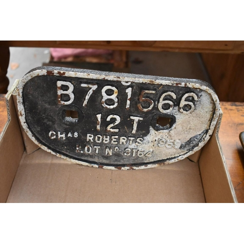 1279 - Railwayana: an interesting collection of seven cast iron signs.