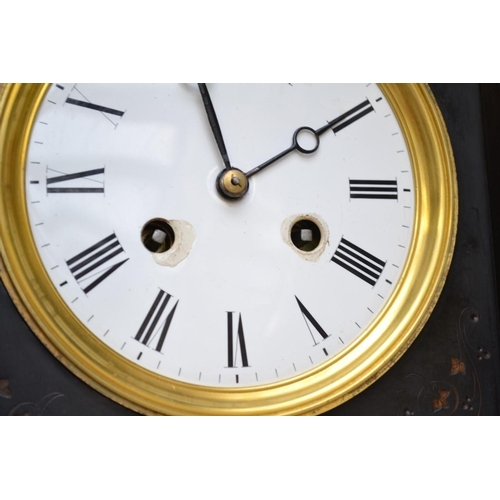 1294 - A slate mantel clock,31cm high.