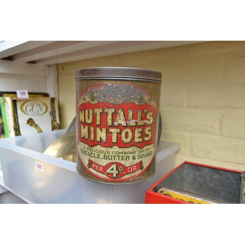 1298 - <strong>Three vintage tins, </strong>to include a 'Redbreast Flake' tobacco example....