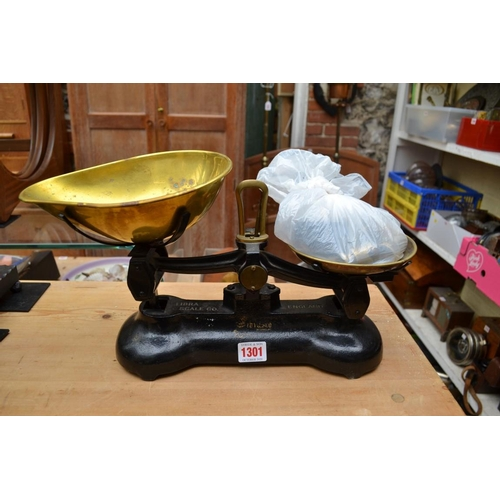 1301 - <strong>A set of Libra kitchen scales,</strong>with weights....