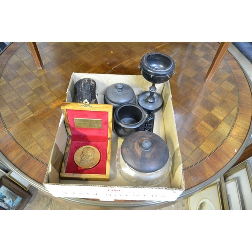 1389 - <strong>A mixed lot, </strong>to include ebony dressing table items....