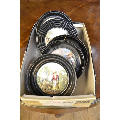 1390 - <strong>Five pot lids, </strong>to include 'The Sportsman'....