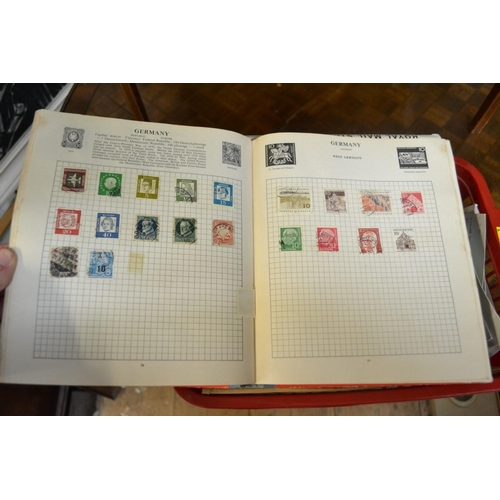1393 - <strong>Stamps:</strong> a collection of albums and first day covers....