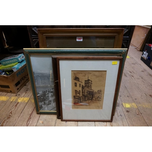 1447 - <strong>Four various prints, </strong>comprising: a Baxter print; a late Victorian photographic imag...