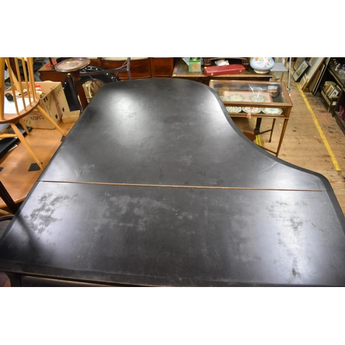 1458 - <strong>A Bluthner ebonized grand piano, </strong>circa 1915, no.94339, on square tapering legs, len...