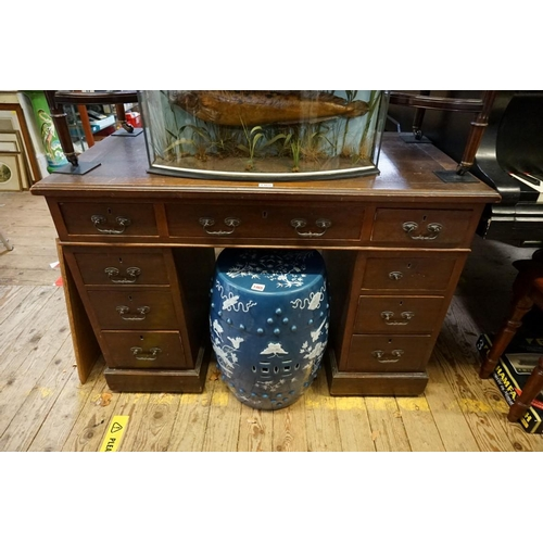 1460 - <strong>An early 20th century mahogany pedestal desk,</strong>106.5cm wide....