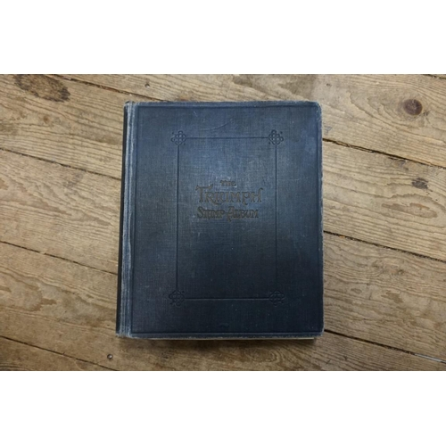 1472 - <strong>Stamps:</strong>an album of Colonial; another album of Hungary; and one other mixed wo...