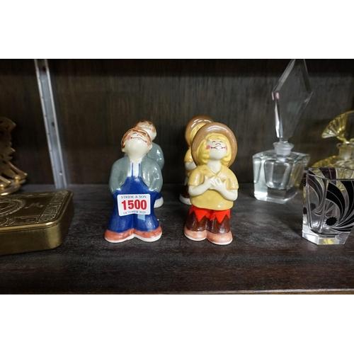 1500 - Two pairs of Wade 'Bisto Kid' cruets.