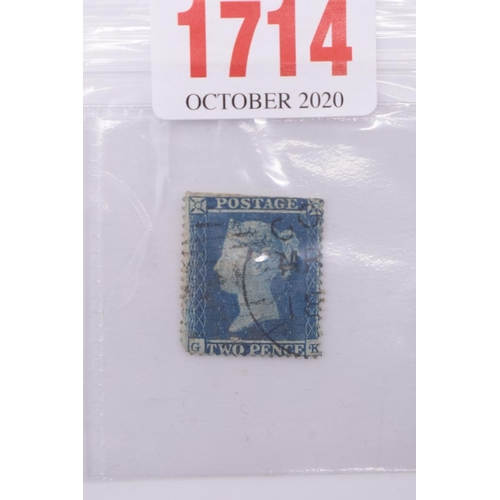 1714 - <strong>Stamps:</strong> a Victoria2d blue....