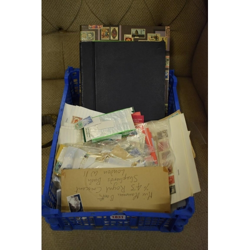 1831 - <strong>Stamps:</strong>a collection of mixed world stamps, loose and in two albums....
