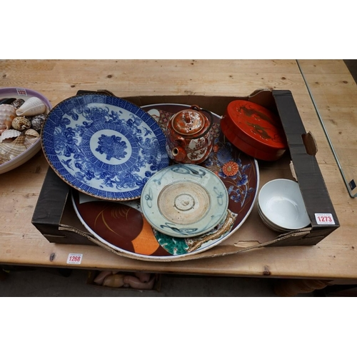1273 - A small collection of Chinese and Japanese porcelain.