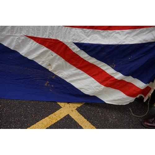 1438 - <strong>An extremely large Union Flag,</strong> 466 x 233cm....