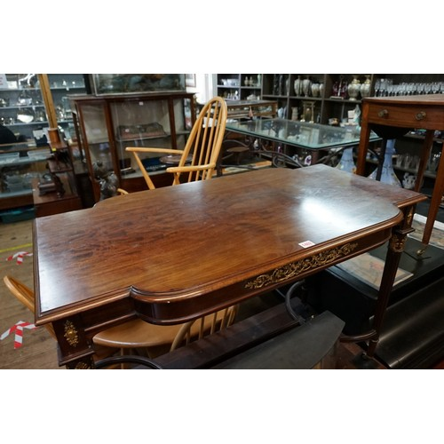 1462 - <strong>A good late 19th century, Louis XVI style, mahogany and gilt bronze mounted centre table,</s...
