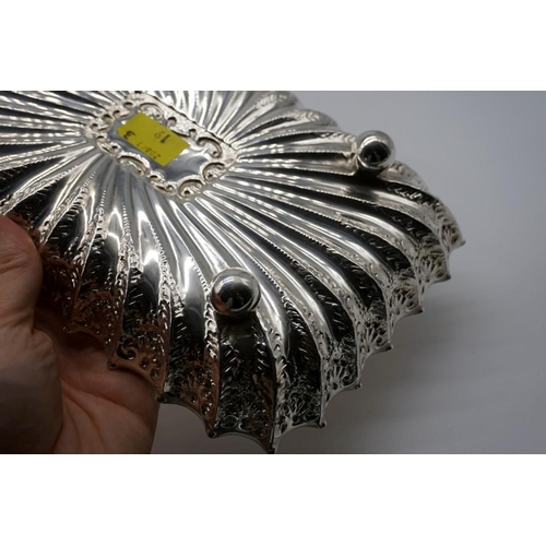14 - <strong>A Victorian silver fluted rectangular dish,</strong> by <em>Fenton Brothers Ltd,</em>Sheffi...
