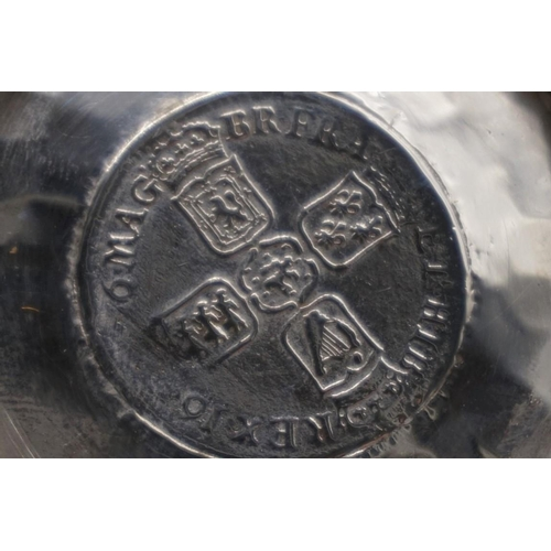 19 - <strong>(THH) An Edwardian hammered silver quaiche,</strong> by<em> George Nathan & Ridley Hayes...