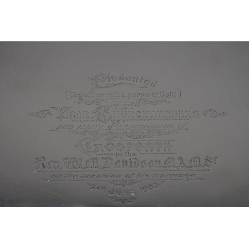 29 - <strong>A Victorian silver salver,</strong> by<em>Thomas Bradbury & Son, </em>London 1894,...
