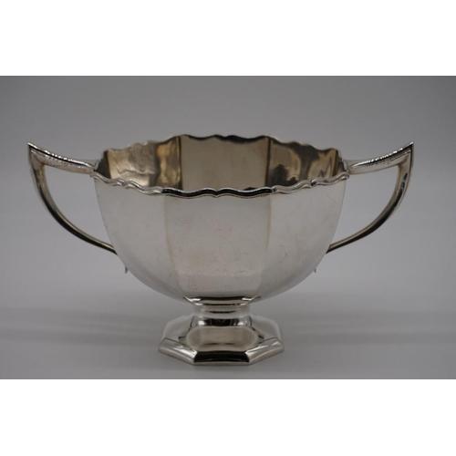 4 - <strong>An Edwardian silver twin handled fruit bowl,</strong> by<em> Horace</em> <em>Woodward & ...