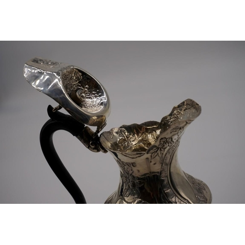 41 - <strong>A Victorian silver hot water jug,</strong> by<em>Wakely & Wheeler,</em> London 189...