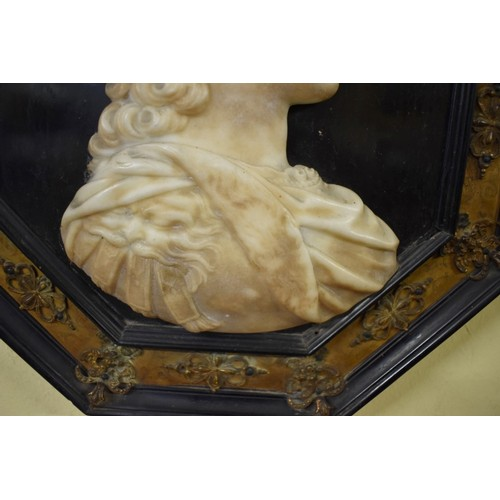 1819 - <strong>(THH) A rare pair of Grand Tour type alabaster relief portrait plaques ofCharles Edward Stu...