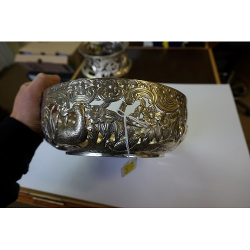 9 - <strong>A late Victorian pierced silver potato dish and ring,</strong> by <em>William Comyns & S...