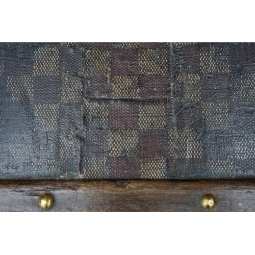 1469 - <strong>A Louis Vuitton travelling trunk, </strong>circa 1890, in Damier canvas, with paper label to...