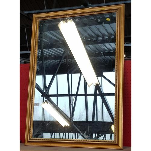 6 - Regency style gilt framed wall mirror frame size 40'' x 28''...
