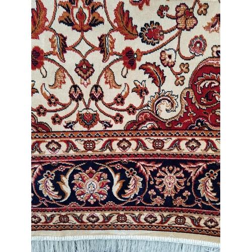 42 - Persian style beige ground Kesham carpet rug 2.30 x 1.60...