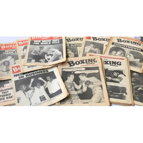 5 - Large quantity of original Boxing newspapers dates 1970, 1974 and 1977, 39 items in the lot...
