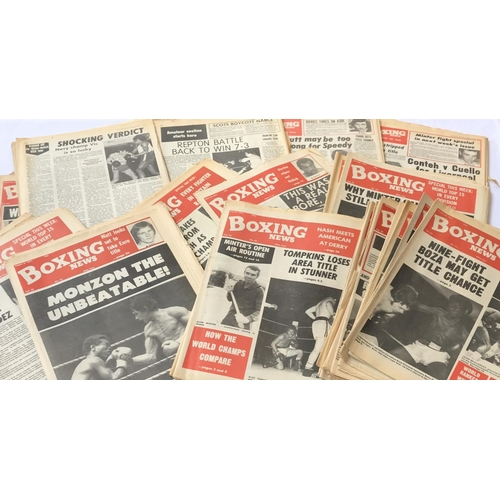 6 - Large quantity of original Boxing newspapers c1977 48 items in the lot...