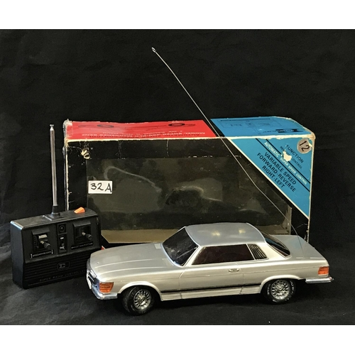 32A - 1970's period remote control Mercedes Benz automobile in original box and packaging by Ecstasy, box ...
