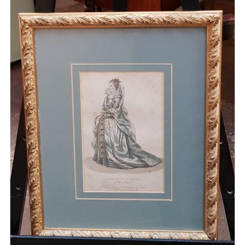 44 - Early 19th C f/g aquatints portrait Queen Marie of Medicis plus one other The Duchess of Maine c1830...