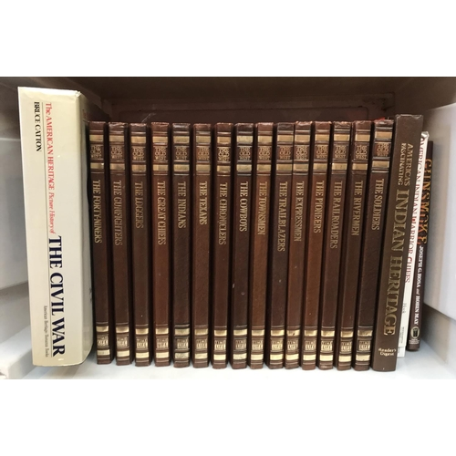 54 - Fifteen volumes leather bound books The Old West published by Time Life plus other related books...