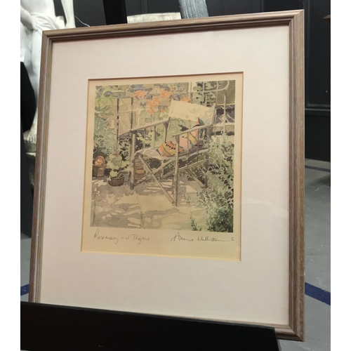 58 - F/g watercolour country scene signed by the artist A.M. White frame size 22ins x 17ins plus one othe...