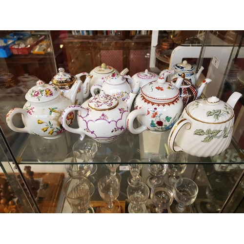 8 - Decorative china Minton teapot plus a collection of ten other decorative collectors teapots...