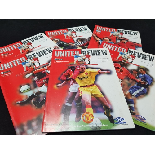 34 - From a private collection large quantity of Manchester United FC football programmes, season 1997/98...