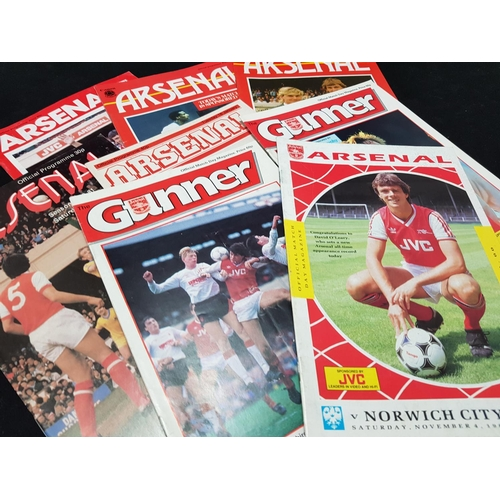 47 - From a private collection quantity of Arsenal FC football programmes mainly 1980's period, 22 items ...
