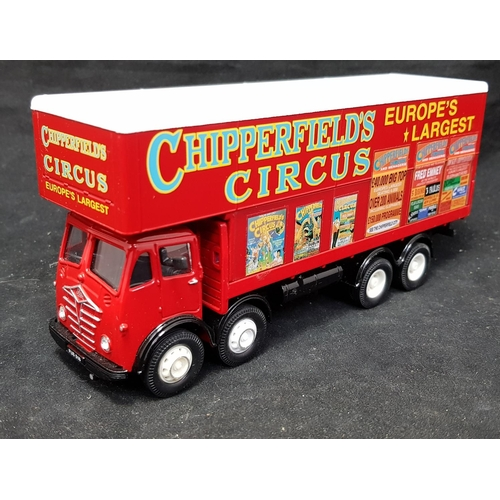 20 - Vintage Corgi collectors vehicle Foden Truck marked Chipperfield Circus in red livery L7ins H3.5ins...