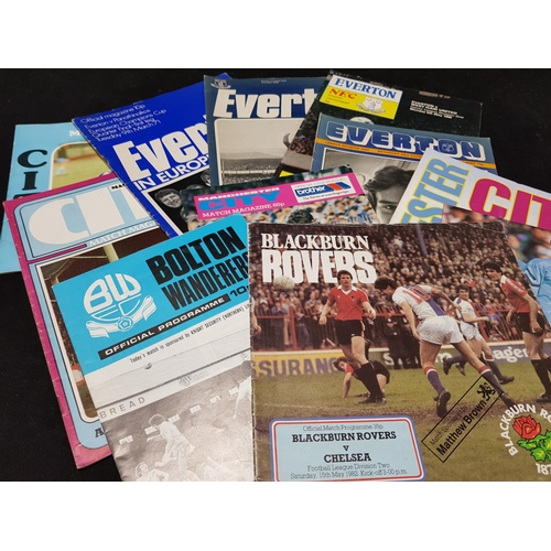 22 - Rare Everton in Europe football programmes Vs Panathinaikos c.1971 plus other Everton, Manchester Ci...