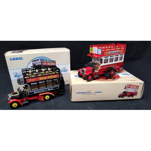48 - Boxed Corgi Diecast Thornycroft bus general model from the Classic commercials series box H5ins L7.5...