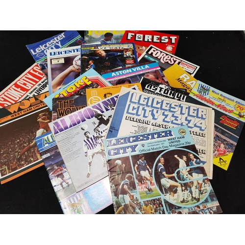 51 - Quantity of vintage football programmes mainly 1970's/80's period includes Forest, WBA, Leicester, V...