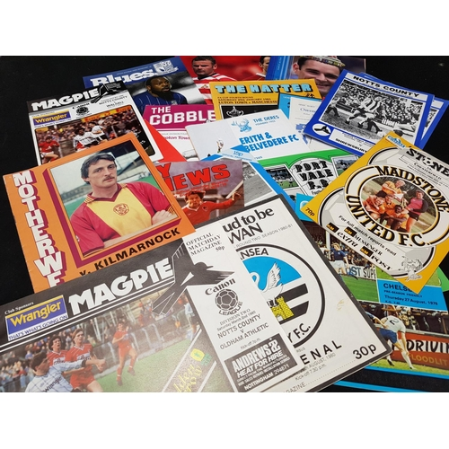56 - Large quantity of mainly 1970's/80's football programmes various teams including Luton, Aberdeen, Gi...