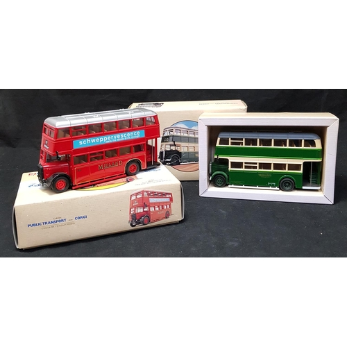 58 - Boxed Corgi Classic double decker bus model Guy Arab Maidstone H5ins L8ins plus similar vehicle Midl...