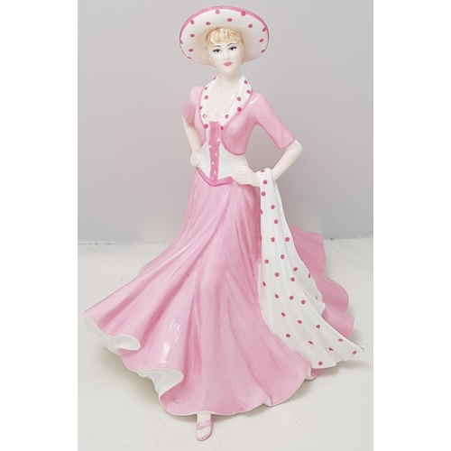 2 - Coalport china lady figure Good Luck from the Sentiments Collection H8ins...