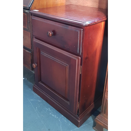 22 - Mahogany 19th C style side chest with drawer and cupboard below H27ins W19ins D17ins...