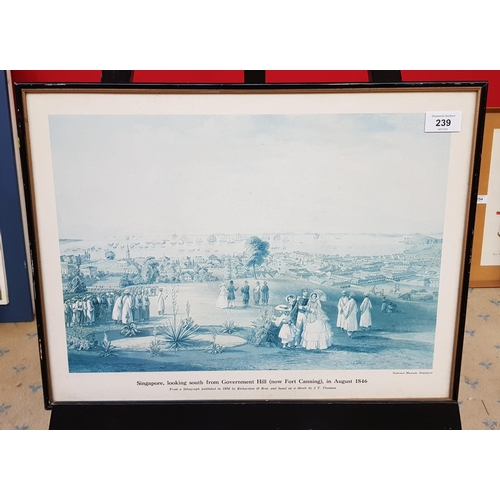42 - F/G print Singapore 1846 from the estate of Sir I.G. frame size 15ins x 20ins...