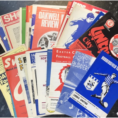 29 - Quantity of football programmes 1970's period Division 4 league teams, 45 items in the lot...
